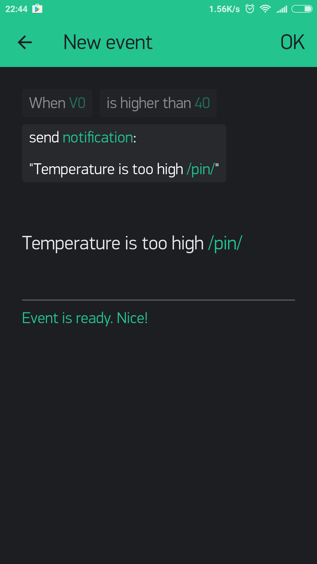 Blynk Server Wiringpi I2c Functions Note Dont Forget To Add Notification Widget